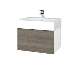 Dreja - Kúpeľňová skriňa VARIANTE SZZ 60 - N01 Bílá lesk / D03 Cafe (263560)