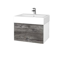 Dreja - Kúpeľňová skriňa VARIANTE SZZ 60 - N01 Bílá lesk / D10 Borovice Jackson (263621)