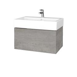 Dreja - Kúpeľňová skriňa VARIANTE SZZ 70 - D01 Beton / D01 Beton (263812)