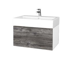 Dreja - Kúpeľňová skriňa VARIANTE SZZ 70 - N01 Bílá lesk / D10 Borovice Jackson (264093)