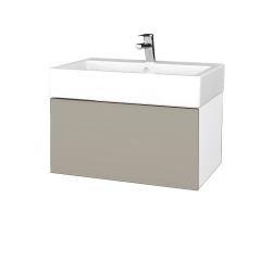 Dreja - Kúpeľňová skriňa VARIANTE SZZ 70 - N01 Bílá lesk / L04 Béžová vysoký lesk (264178)