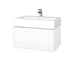 Dreja - Kúpeľňová skriňa VARIANTE SZZ 70 - N01 Bílá lesk / L01 Bílá vysoký lesk (264222)