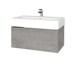 Dreja - Kúpeľňová skriňa VARIANTE SZZ 80 - D01 Beton / D01 Beton (264284)