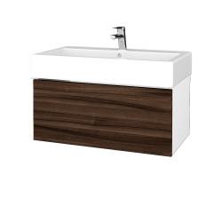 Dreja - Kúpeľňová skriňa VARIANTE SZZ 80 - N01 Bílá lesk / D06 Ořech (264536)