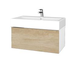 Dreja - Kúpeľňová skriňa VARIANTE SZZ 80 - N01 Bílá lesk / D15 Nebraska (264574)