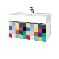 Dreja - Kúpeľňová skriňa VARIANTE SZZ 80 - N01 Bílá lesk / IND Individual (264628)
