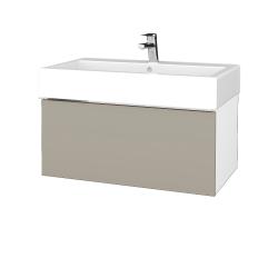 Dreja - Kúpeľňová skriňa VARIANTE SZZ 80 - N01 Bílá lesk / L04 Béžová vysoký lesk (264642)
