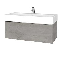 Dreja - Kúpeľňová skriňa VARIANTE SZZ 100 - D01 Beton / D01 Beton (264758)