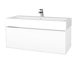 Dreja - Kúpeľňová skrinka VARIANTE SZZ 100 - M01 Bílá mat / M01 Bílá mat (264871U)