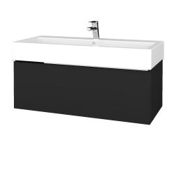 Dreja - Kúpeľňová skriňa VARIANTE SZZ 100 - L03 Antracit vysoký lesk / L03 Antracit vysoký lesk (264901)