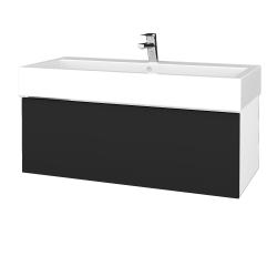 Dreja - Kúpeľňová skrinka VARIANTE SZZ 100 - N01 Bílá lesk / L03 Antracit vysoký lesk (265106U)