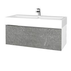 Dreja - Kúpeľňová skrinka VARIANTE SZZ 100 - N01 Bílá lesk / D20 Galaxy (265205U)
