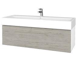Dreja - Kúpeľňová skriňa VARIANTE SZZ 120 - N01 Bílá lesk / D05 Oregon (265465)