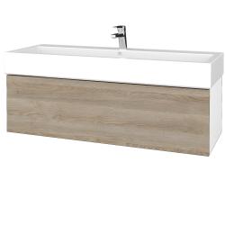 Dreja - Kúpeľňová skrinka VARIANTE SZZ 120 - N01 Bílá lesk / D17 Colorado (265533U)