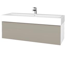 Dreja - Kúpeľňová skriňa VARIANTE SZZ 120 - N01 Bílá lesk / M05 Béžová mat (265557)