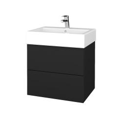 Dreja - Kúpeľňová skriňa VARIANTE SZZ2 60 - L03 Antracit vysoký lesk / L03 Antracit vysoký lesk (265847)