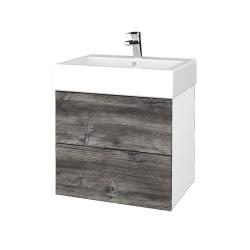 Dreja - Kúpeľňová skriňa VARIANTE SZZ2 60 - N01 Bílá lesk / D10 Borovice Jackson (265977)