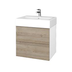 Dreja - Kúpeľňová skriňa VARIANTE SZZ2 60 - N01 Bílá lesk / D17 Colorado (266004)