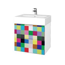Dreja - Kúpeľňová skriňa VARIANTE SZZ2 60 - N01 Bílá lesk / IND Individual (266035)