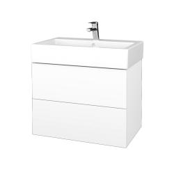 Dreja - Kúpeľňová skrinka VARIANTE SZZ2 70 - M01 Bílá mat / M01 Bílá mat (266288)