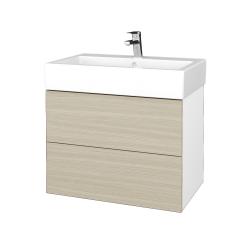 Dreja - Kúpeľňová skrinka VARIANTE SZZ2 70 - N01 Bílá lesk / D04 Dub (266394)