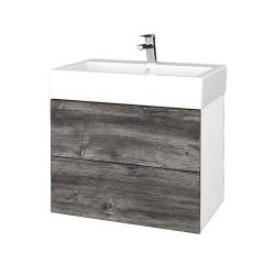 Dreja - Kúpeľňová skrinka VARIANTE SZZ2 70 - N01 Bílá lesk / D10 Borovice Jackson (266448)