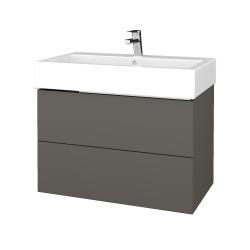 Dreja - Kúpeľňová skriňa VARIANTE SZZ2 80 - N06 Lava / N06 Lava (266813)