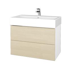 Dreja - Kúpeľňová skriňa VARIANTE SZZ2 80 - N01 Bílá lesk / D02 Bříza (266844)