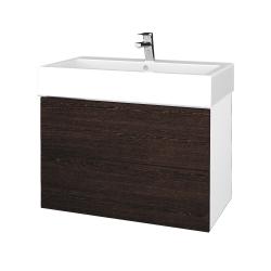 Dreja - Kúpeľňová skriňa VARIANTE SZZ2 80 - N01 Bílá lesk / D08 Wenge (266899)