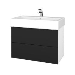 Dreja - Kúpeľňová skriňa VARIANTE SZZ2 80 - N01 Bílá lesk / L03 Antracit vysoký lesk (266981)