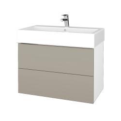 Dreja - Kúpeľňová skriňa VARIANTE SZZ2 80 - N01 Bílá lesk / L04 Béžová vysoký lesk (266998)