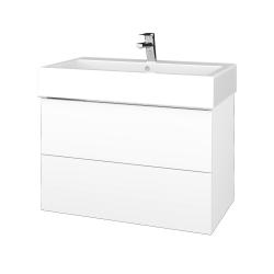 Dreja - Kúpeľňová skriňa VARIANTE SZZ2 80 - N01 Bílá lesk / L01 Bílá vysoký lesk (267049)