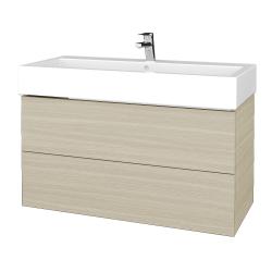 Dreja - Kúpeľňová skrinka VARIANTE SZZ2 100 - D04 Dub / D04 Dub (267131U)