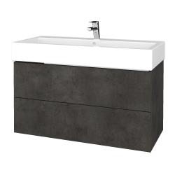 Dreja - Kúpeľňová skriňa VARIANTE SZZ2 100 - D16  Beton tmavý / D16 Beton tmavý (267209)