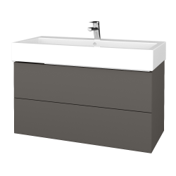 Dreja - Kúpeľňová skriňa VARIANTE SZZ2 100 - N06 Lava / N06 Lava (267285)