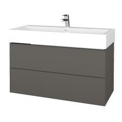 Dreja - Kúpeľňová skrinka VARIANTE SZZ2 100 - N06 Lava / N06 Lava (267285U)
