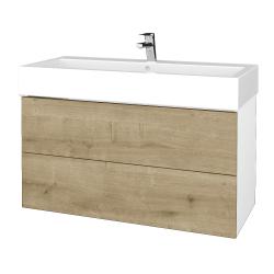 Dreja - Kúpeľňová skriňa VARIANTE SZZ2 100 - N01 Bílá lesk / D09 Arlington (267377)