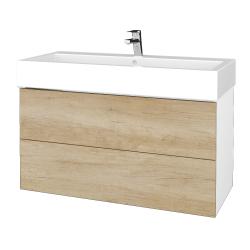 Dreja - Kúpeľňová skriňa VARIANTE SZZ2 100 - N01 Bílá lesk / D15 Nebraska (267391)
