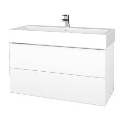 Dreja - Kúpeľňová skrinka VARIANTE SZZ2 100 - N01 Bílá lesk / M01 Bílá mat (267421U)