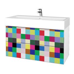 Dreja - Kúpeľňová skriňa VARIANTE SZZ2 100 - N01 Bílá lesk / IND Individual (267445)