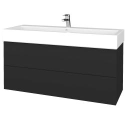 Dreja - Kúpeľňová skriňa VARIANTE SZZ2 120 - N03 Graphite / N03 Graphite (267742)