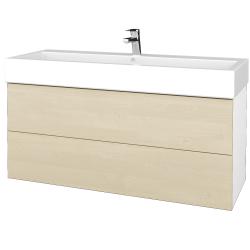 Dreja - Kúpeľňová skriňa VARIANTE SZZ2 120 - N01 Bílá lesk / D02 Bříza (267780U)