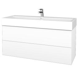 Dreja - Kúpeľňová skriňa VARIANTE SZZ2 120 - N01 Bílá lesk / M01 Bílá mat (267896)
