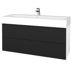 Dreja - Kúpeľňová skriňa VARIANTE SZZ2 120 - N01 Bílá lesk / L03 Antracit vysoký lesk (267926U)