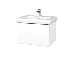Dreja - Kúpeľňová skriňa VARIANTE SZZ 60 - N01 Bílá lesk / M01 Bílá mat (271176)