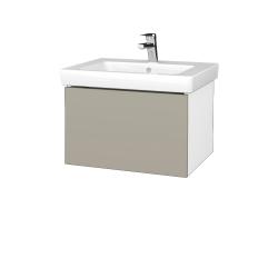 Dreja - Kúpeľňová skriňa VARIANTE SZZ 60 - N01 Bílá lesk / M05 Béžová mat (271183)