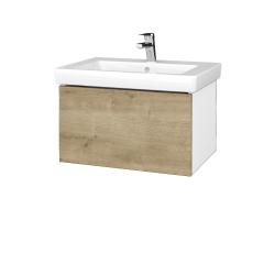 Dreja - Kúpeľňová skriňa VARIANTE SZZ 65 - N01 Bílá lesk / D09 Arlington (271596)
