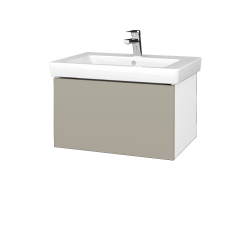 Dreja - Kúpeľňová skriňa VARIANTE SZZ 65 - N01 Bílá lesk / M05 Béžová mat (271657)