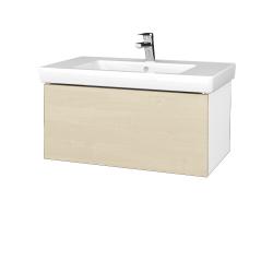 Dreja - Kúpeľňová skriňa VARIANTE SZZ 80 - N01 Bílá lesk / D02 Bříza (272005)