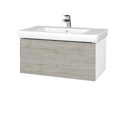 Dreja - Kúpeľňová skriňa VARIANTE SZZ 80 - N01 Bílá lesk / D05 Oregon (272036)